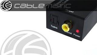 Conversor de audio analógico a digital con 2xRCA a toslink y coaxial distribuido por CABLEMATIC ®