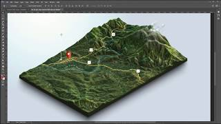 From Google Maps and heightmaps to 3D Terrain - 3D Map Generator Terrain - Photoshop Free HD Video