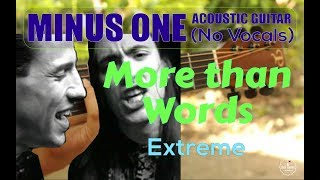 Extreme - More Than Words acoustic minus one cover
