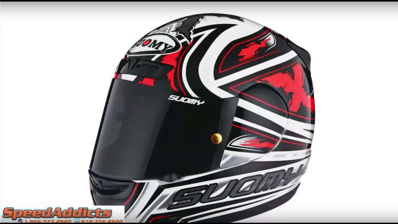 7422c5a7 Suomy Apex Steel Red Helmet at SpeedAddicts.com - YouTube