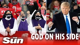 Trump cheered on by 'MAGA nuns' who held up bibles in Ohio