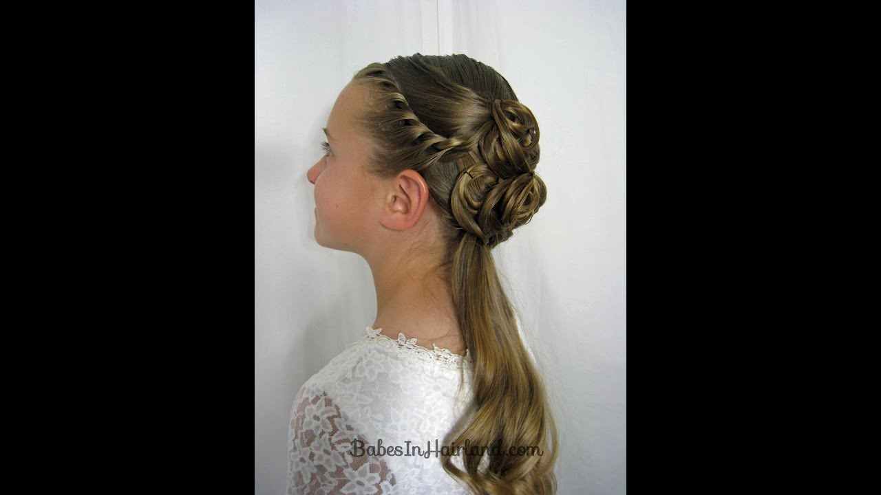 Elegant Half Updo Homecoming Prom Weddings