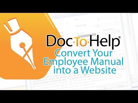 Using Doc To Help to Convert Your Employee Manual into a Website