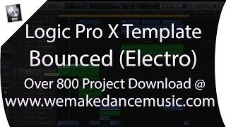 LOGIC PTO X MIXING TEMPLATES | Logic Pro X Template - Electro House - Bounced By Mikas