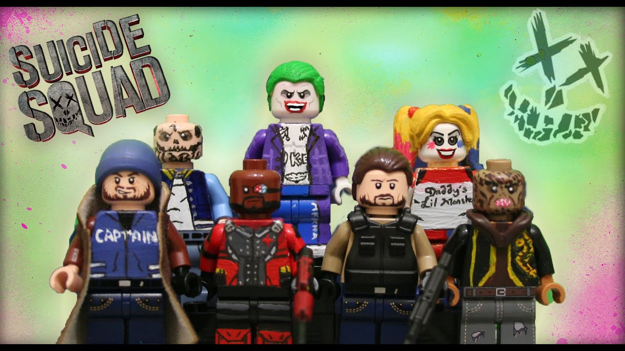 Lego Custom Suicide Squad Minifigures Showcase Youtube