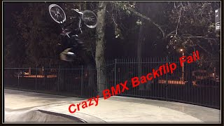 Crazy BMX Backflip Fail!