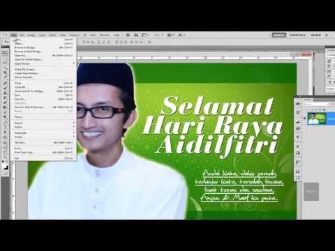 Hasilkan Kad Raya Photoshop Youtube