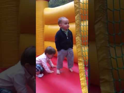 The cool kid in the bouncy castle