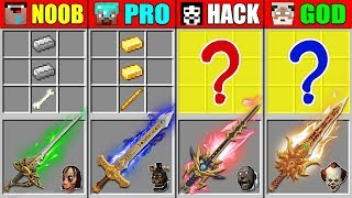 Minecraft NOOB vs PRO vs HACKER vs GOD ABILITY SWORD CRAFTING SCARY NIGHT MINE CHALLENGE Animation