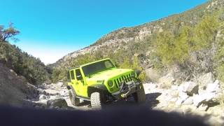 Jeep Rubicon, 3,5 lift, 37 tires, Off Road, 4x4, first time at Rocky Gap Road, Red Rock, Las Vegas