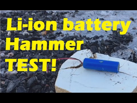 Lithium Battery Hammer Test