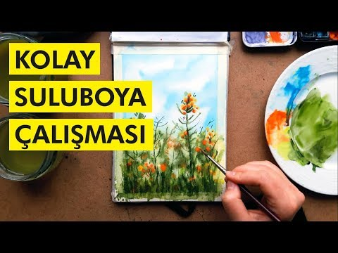 Beraber Çiçek Boyayalım! | Kolay Suluboya Çalışması