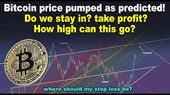 Bitcoin price pumped as predicted! Stay in? take profit? How high can this go? BTC TA