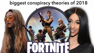 THE BIGGEST CONSPIRACY THEORIES OF 2018! (Cardi B, Fortnite, Emma Chamberlain, etc)