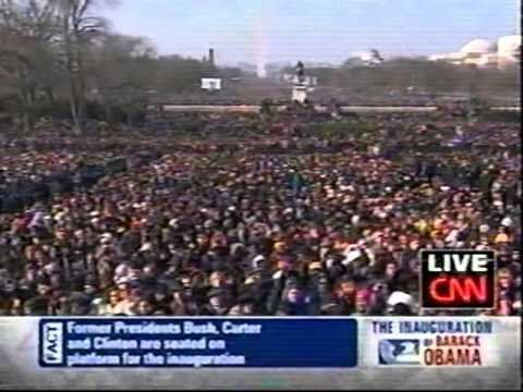 Barack Obama 1st Inauguration - January 20, 2009 - CNN News Coverage Pt 1
