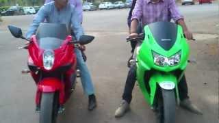 Kawasaki Ninja 250r vs Hyosung gt250r exhaust sound