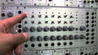 Doepfer A155 Analog/Trigger Sequencer Basics