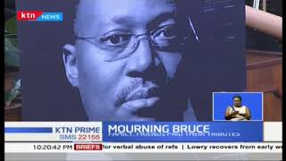 First lady Margaret and several mourners gather to pay respect to the late Bruce Odhiambo