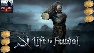 life is Feudal: MMO стрим обзор #1. Симулятор выживания в мире феодалов гайд. Первый день в игре