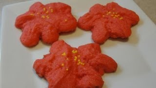 Raspberry Poinsettia Blossoms Cookies