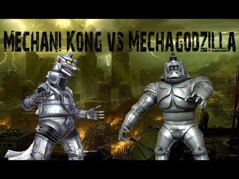Mechani Kong vs Mechagodzilla Stop Motion...