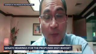 Senate budget hearing for COMELEC for 2021 fiscal year
