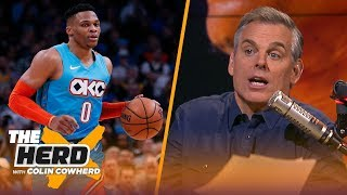 Colin Cowherd on if Celtics are better without Kyrie, rips Russ for fan interaction | NBA | THE HERD