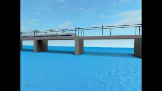 ROBLOX TGV Train in the bridge