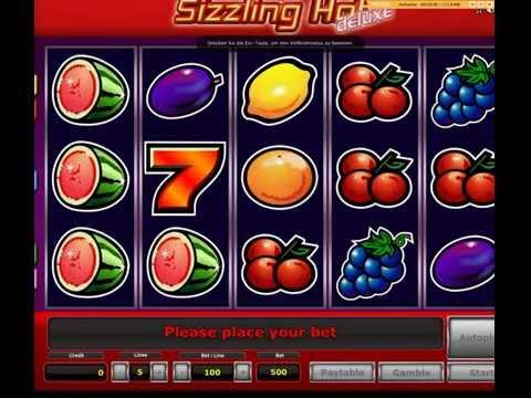Sizzling Hot kostenlos auf Casinospieledeluxe gespielt