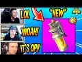 STREAMERS REACT TO *NEW* STINK BOMB! *EPIC* Fortnite FUNNY & SAVAGE Moments