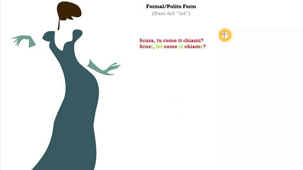 Italian Course Beginner Series 64: The Polite Form