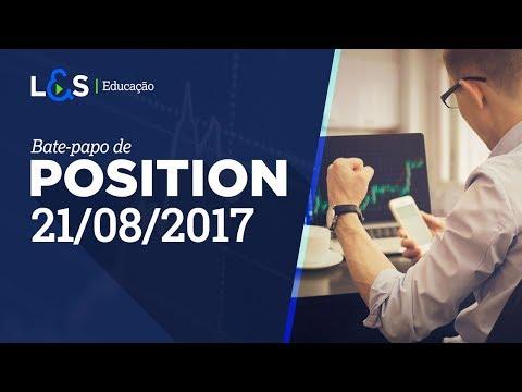 Trading no gráfico semanal | Position 21/08/2017