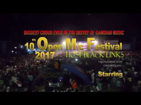 OPEN MIC 2017  10TH YEAR THE BIGGEST CROUD EVER IN THE HISTORY OF GAMBIAN MUSIC