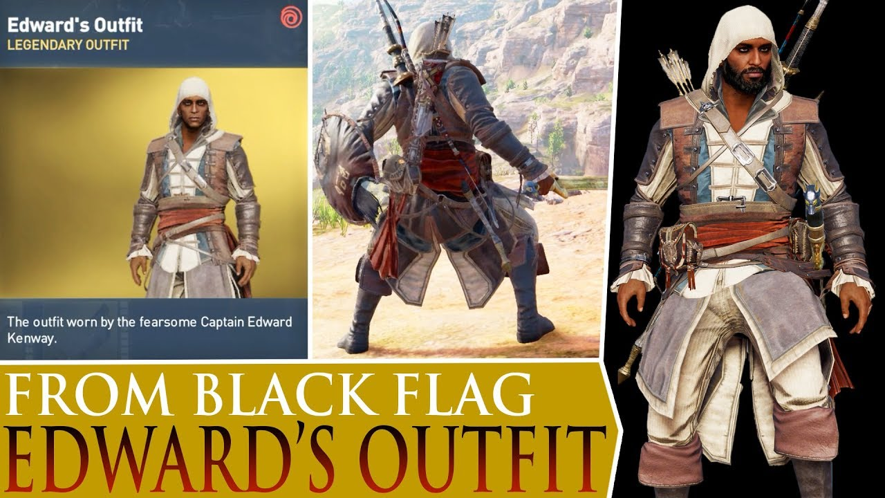 Assassinu0026#39;s Creed Origins - Edwardu0026#39;s Legendary Outfit (from Black Flag) - YouTube