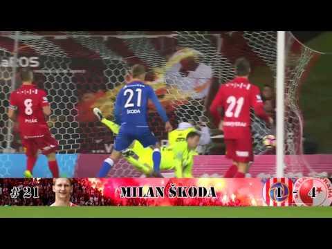 Slavia Praha - góly (podzim 2016)
