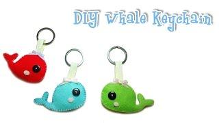 DIY Felt Craft/ พวงกุญแจปลาวาฬผ้าสักหลาด /Whale  Keychain/ English Subtitle)