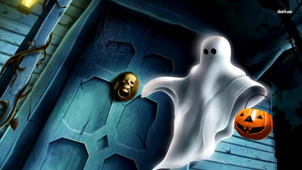 free scary halloween video,spooky hologram projection video loop