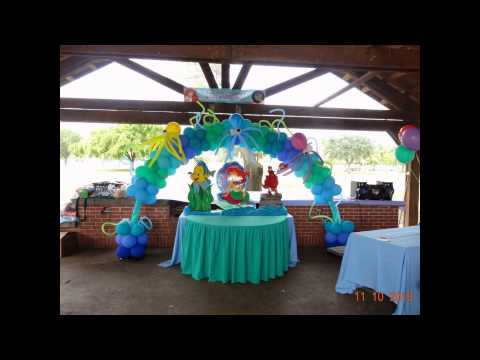 Ariel balloons decorations youtube for Ariel decoration ideas