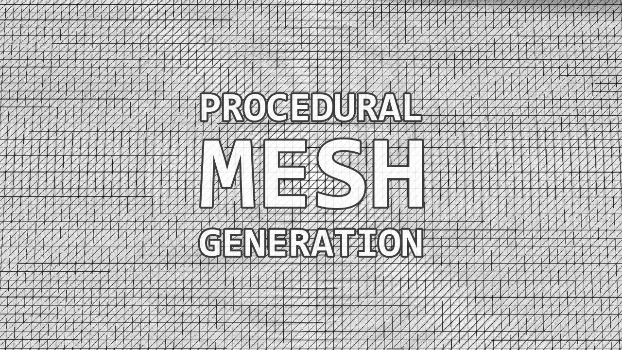 Procedural Mesh Generation in Unity 3D