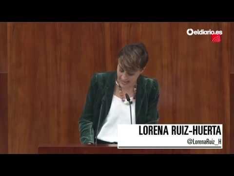 """Lorena Ruiz-Huerta: """"¿Hizo usted el máster de la Comunidad de Madrid, señoría?"""""""