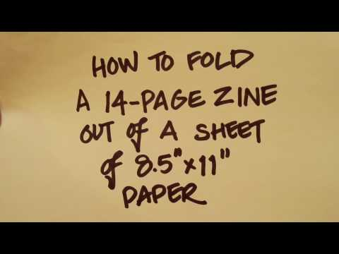 How to fold a 14-page zine