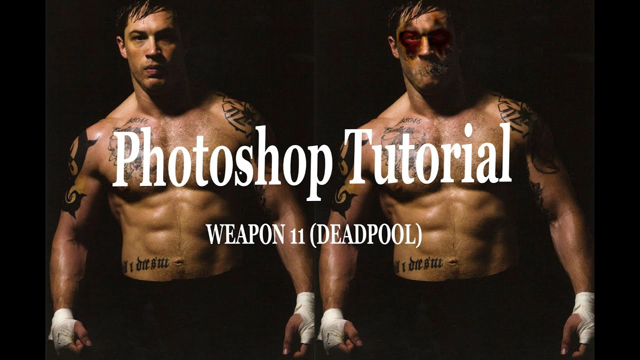 Photoshop portrait brush effects tutorial▻layer mask &photo.