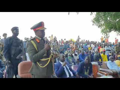 Download Governor of Warrap State, Lt. Gen Hon Aleu Ayieny in Romic, Luanyjang.
