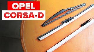 Montaggio Tergicristalli posteriore e anteriore OPEL CORSA D: video gratuito