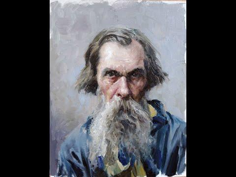 Урок живописи маслом. Портрет А.К. Саврасова