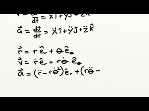 velocity and acceleration in different coordinate systems