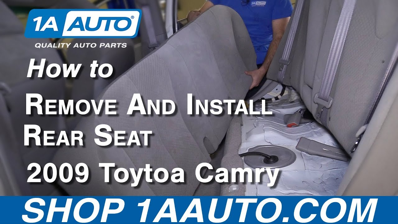 medium resolution of how to remove rear seat 06 11 toyota camry