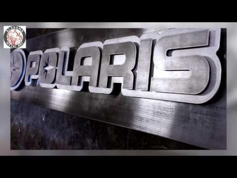 POLARIS - custom metal business sign by Alabama Metal Art