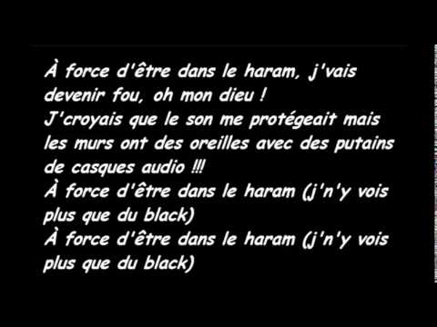black m-a force d'être paroles