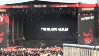 "Metallica - Intro to the Black Album - The Struggle within ""Download festival 2012"" Donington"